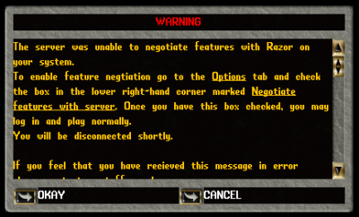 Razor Feature Negotiation | UO:R Forums